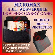 ACM-HORIZONTAL LEATHER CARRY CASE for MICROMAX BOLT A069 MOBILE POUCH COVER CASE