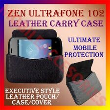 ACM-HORIZONTAL LEATHER CARRY CASE for ZEN ULTRAFONE 102 POUCH RICH COVER HOLDER
