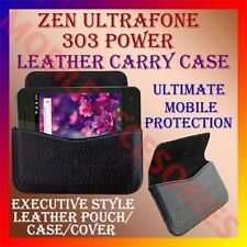ACM-HORIZONTAL LEATHER CARRY CASE for ZEN ULTRAFONE 303 POWER POUCH COVER HOLDER