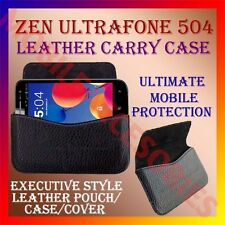 ACM-HORIZONTAL LEATHER CARRY CASE for ZEN ULTRAFONE 504 POUCH COVER HOLDER NEW
