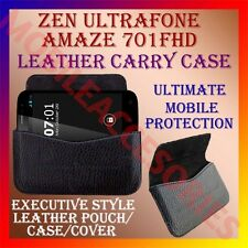 ACM-HORIZONTAL LEATHER CARRY CASE for ZEN ULTRAFONE AMAZE 701FHD POUCH COVER NEW