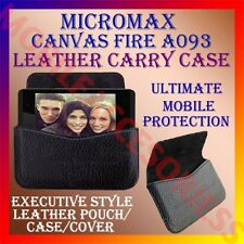 ACM-HORIZONTAL LEATHER CARRY CASE for MICROMAX CANVAS FIRE A093 POUCH COVER CASE