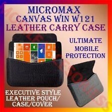 ACM-HORIZONTAL LEATHER CARRY CASE for MICROMAX CANVAS WIN W121 POUCH COVER CASE