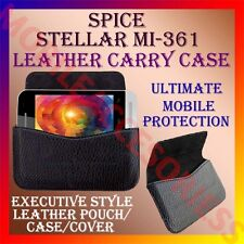 ACM-HORIZONTAL LEATHER CARRY CASE for SPICE STELLAR MI-361 MOBILE POUCH COVER