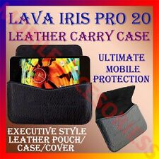 ACM-HORIZONTAL LEATHER CARRY CASE for LAVA IRIS PRO 20 MOBILE POUCH COVER HOLDER