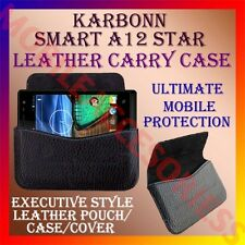 ACM-HORIZONTAL LEATHER CARRY CASE for KARBONN SMART A12 STAR MOBILE POUCH COVER