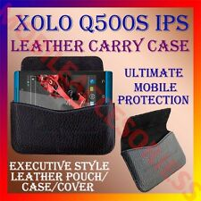 ACM-HORIZONTAL LEATHER CARRY CASE for XOLO Q500s IPS MOBILE POUCH RICH COVER NEW