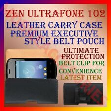 ACM-BELT CASE for ZEN ULTRAFONE 102 MOBILE LEATHER CARRY POUCH COVER CLIP HOLDER