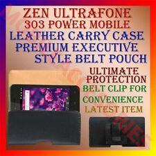 ACM-BELT CASE for ZEN ULTRAFONE 303 POWER MOBILE LEATHER CARRY POUCH COVER CLIP