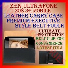 ACM-BELT CASE for ZEN ULTRAFONE 308 3G MOBILE LEATHER CARRY POUCH COVER CLIP NEW