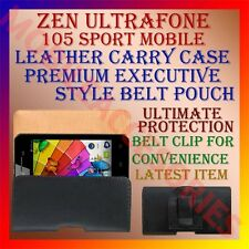 ACM-BELT CASE for ZEN ULTRAFONE 105 SPORT MOBILE LEATHER CARRY POUCH COVER CLIP