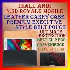 ACM-BELT CASE for IBALL ANDI 4.5D ROYALE MOBILE LEATHER CARRY POUCH COVER CLIP