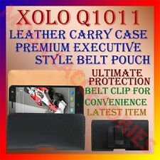 ACM-BELT CASE for XOLO Q1011 MOBILE LEATHER CARRY POUCH RICH COVER CLIP PROTECT