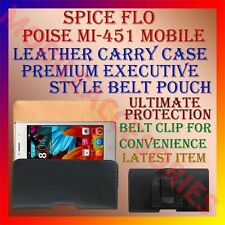 ACM-BELT CASE for SPICE SMART FLO POISE MI-451 MOBILE LEATHER CARRY POUCH COVER
