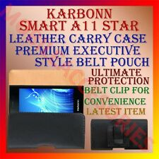 ACM-BELT CASE for KARBONN SMART A11 STAR MOBILE LEATHER CARRY POUCH COVER CLIP