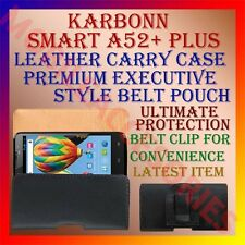ACM-BELT CASE for KARBONN SMART A52+ PLUS MOBILE LEATHER CARRY POUCH COVER CLIP