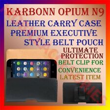 ACM-BELT CASE for KARBONN OPIUM N9 MOBILE LEATHER CARRY POUCH PREMIUM COVER CLIP