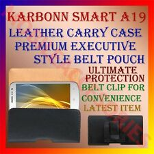 ACM-BELT CASE for KARBONN SMART A19 MOBILE LEATHER CARRY POUCH COVER CLIP HOLDER