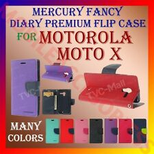 ACM-MERCURY PREMIUM DIARY FLIP FLAP CASE for MOTOROLA MOTO X MOBILE WALLET COVER