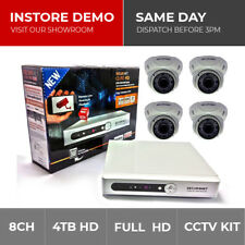Securenet 8CH 960H CCTV DVR HDMI Recorder 2/4/6/8 Outdoor IR Cameras System Kit