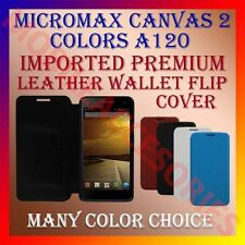 ACM-MULTI-COLOR IMPORTED LEATHER CASE for MICROMAX CANVAS 2 COLORS A120 COVER
