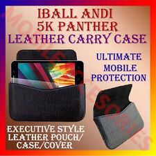 ACM-HORIZONTAL LEATHER CARRY CASE for IBALL ANDI 5K PANTHER MOBILE POUCH COVER
