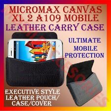 ACM-HORIZONTAL LEATHER CARRY CASE for MICROMAX CANVAS XL 2 A109 POUCH COVER CASE