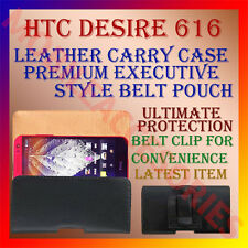 ACM-BELT CASE for HTC DESIRE 616 MOBILE LEATHER POUCH  CARRY COVER CLIP HOLDER