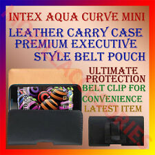 ACM-BELT CASE for INTEX AQUA CURVE MINI MOBILE RICH LEATHER POUCH COVER CLIP NEW