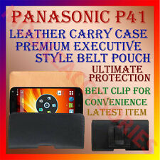 ACM-BELT CASE for PANASONIC P41 MOBILE LEATHER POUCH PREMIUM COVER CLIP HOLDER