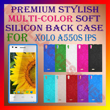ACM-PREMIUM MULTI-COLOR SOFT SILICON BACK CASE for XOLO A550S IPS MOBILE COVER