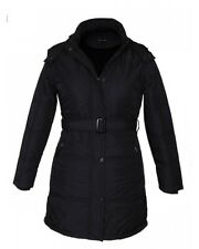Winter Jacket Women Woolen  Long Jacket FS With Belt For Women Black Color