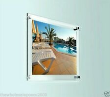 PHOTO FRAME CLEAR PERSPEX ACRYLIC WALL MOUNT POSTER PICTURE HOLDER DISPLAY