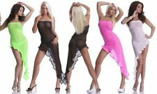 Gogo Kleid Bandeau Minikleid Asymmetrisch Clubkleid Club Disco Party Striptease