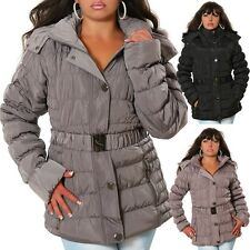 Damen Jacke Winterjacke Daunen-Look Steppjacke Winter Stepp Outdoor Kapuze #1005