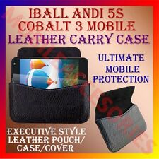 ACM-HORIZONTAL LEATHER CARRY CASE for IBALL ANDI 5S COBALT 3 POUCH HOLDER COVER