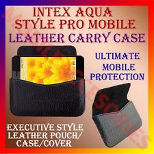 ACM-HORIZONTAL LEATHER CARRY CASE for INTEX AQUA STYLE PRO MOBILE HOLDER COVER
