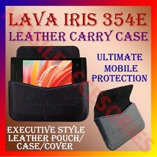 ACM-HORIZONTAL LEATHER CARRY CASE for LAVA IRIS 354E MOBILE POUCH HOLDER COVER