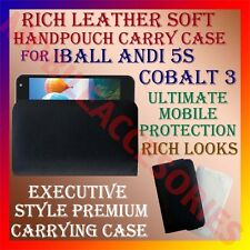 ACM-RICH LEATHER SOFT CARRY CASE for IBALL ANDI 5S COBALT 3 MOBILE HANDPOUCH