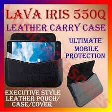 ACM-HORIZONTAL LEATHER CARRY CASE for LAVA IRIS 550Q MOBILE POUCH HOLDER COVER