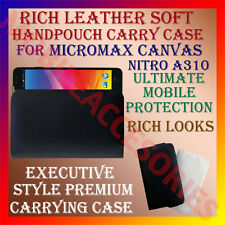 ACM-RICH LEATHER SOFT CARRY CASE for MICROMAX CANVAS NITRO A310 HANDPOUCH COVER