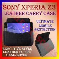 ACM-HORIZONTAL LEATHER CARRY CASE for SONY XPERIA Z3 MOBILE POUCH HOLDER COVER