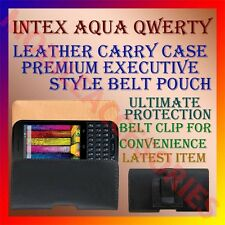 ACM-BELT CASE for INTEX AQUA QWERTY MOBILE LEATHER CARRY POUCH COVER HOLDER CLIP