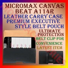 ACM-BELT CASE for MICROMAX CANVAS BEAT A114R LEATHER CARRY POUCH COVER HOLDER