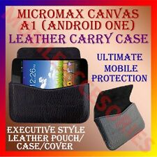 ACM-HORIZONTAL LEATHER CARRY CASE for MICROMAX CANVAS A1 (ANDROID ONE) COVER NEW