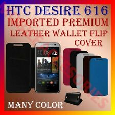 ACM-MULTI-COLOR IMPORTED PREMIUM LEATHER CASE for HTC DESIRE 616 WALLET COVER