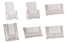LEAFLET HOLDER A4, A5, A6, 1/3rd A4 DL COUNTER STAND WITH OR WITHOUT CARD HOLDER