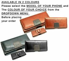Belt Clip Holster Pouch Case Cover Leather Holder Suede Int. for Mobile Phone XL