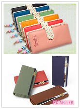 PBL Womens Fashion Clutch Leather Long Handbag Lady's Bowknot Wallet Coin Purse