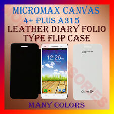 ACM-LEATHER DIARY FOLIO FLIP CASE for MICROMAX CANVAS 4+ PLUS A315 MOBILE COVER